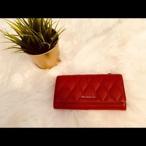 Vera Bradley leather quilted Audrey trifold wallet